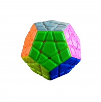 Кубик 0934C-2 QiYi X-Man Megaminx (Convex Stickerless) 8см, в кор-ке, 9,5-7,5-13,5см