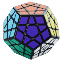 Кубик 0934C-3 QiYi X-Man Megaminx (Plane Black-Base) 8см, в кор-ке, 9,5-7,5-13,5см