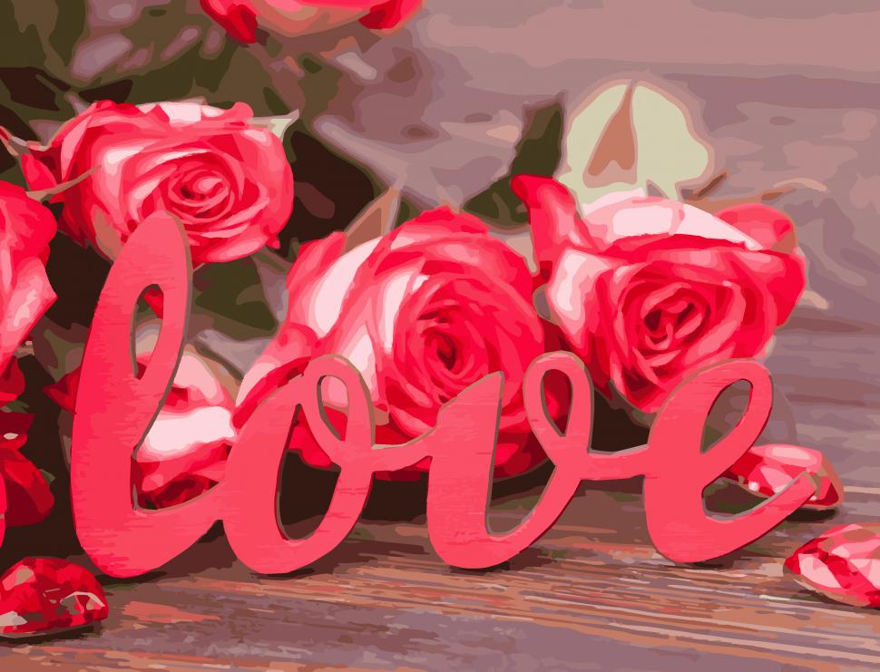 """Картина по номерам. Art Craft """"Розы любви"""" 40*50 см 12118-AC"""