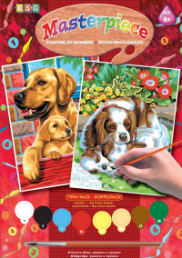 Набор для творчества Sequin Art PAINTING BY NUMBERS JUNIOR-PAIRS Dogs SA0214