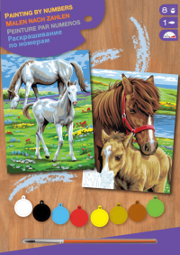 Набор для творчества Sequin Art PAINTING BY NUMBERS JUNIOR-PAIRS Horses SA0215