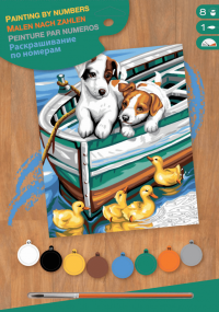 Набор для творчества Sequin Art PAINTING BY NUMBERS JUNIOR Puppies and Ducks SA1332